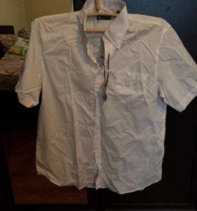 Рубашка с коротким рукавом белая