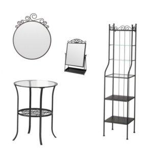 Икеа столик, зеркало, стеллаж Новое
