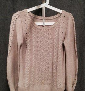 Трикотажный пуловер (свитер/джемпер) с косами
