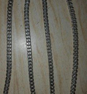 Серебрянная цепь и браслет.