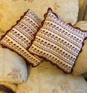 Вязанные подушки на заказ