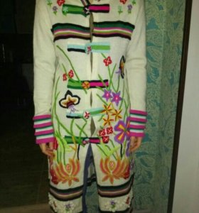 Пальто вязанное KENZO