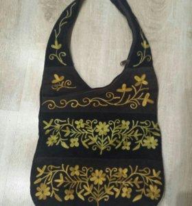 НАТУРАЛЬНАЯ!!! замшевая сумка из Индии