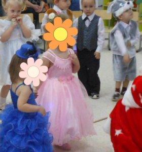 Платье 👗 пышное королевский синий от 1 до 3 л