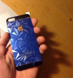 Стекла для IPhone 5/5s/SE Синие!