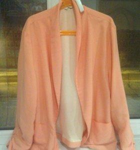 Персиковый пиджак