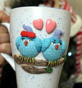 Чашка с птичками