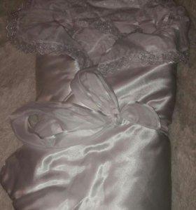Уголок -одеяло на выписку(зима)