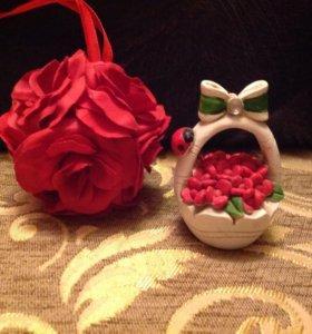 #Декор в интерьер( шарик Розы&Корзиночка)#
