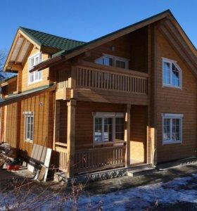 Деревянные дома из клееного профилированного бруса