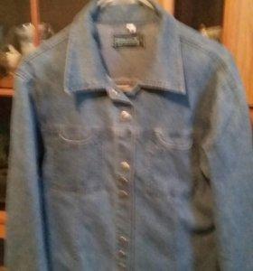 Куртки джинсовые, блузка