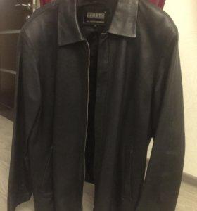 Натуральная кожаная куртка, мужская
