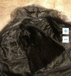 Кожаная зимняя куртка трансформер