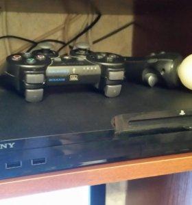 Ps3 с играми и контроллером