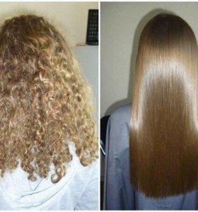 Кератин ботокс полировка волос