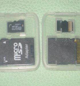 карта microSD128МВ +адаптер