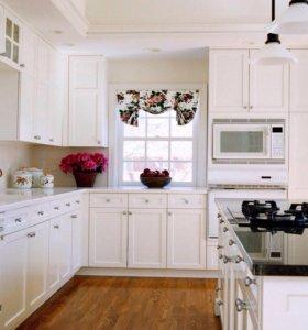 Белая новая кухня