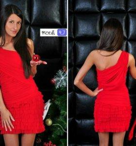 Вечернее   красное платье -500 рублей