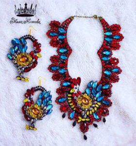 Ожерелье и серёжки