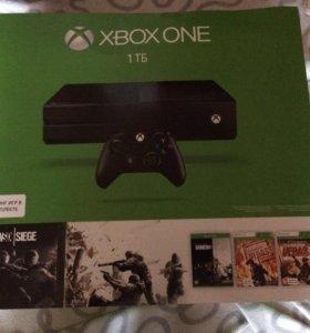 Xbox ONE 1Tb, 2 джойстика, игры