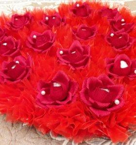 Букет  из конфет Сердце с Раффаэлло ( Raffael