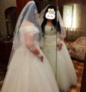 Свадебное платье размера 52-54