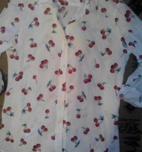 Рубашка,брючки лении новые.кофточка новая