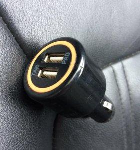 Зарядка автомобильная 2 USB
