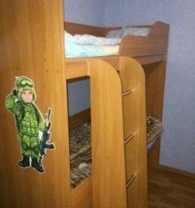 Кровать детская двуярусная
