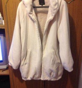 Куртка плюш тёплая и мягкая