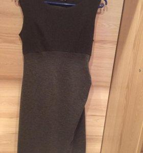 Платье темно-серое 42 без примерки.