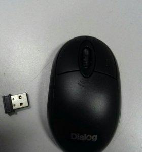 Мышь беспроводная MROP-00UB Dialog RF 2.4G