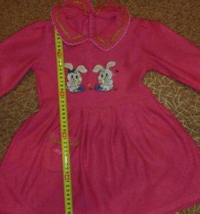 Платье теплое, рр 92-98 см