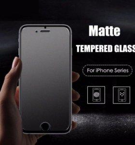 iPhone матовые защитные стекла