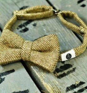 Эксклюзивная бабочка - галстук (беж)