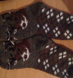 Вязанные тёплые носки,разных