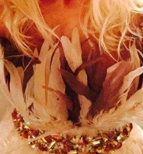 Джовани блуза из страусиных перьев
