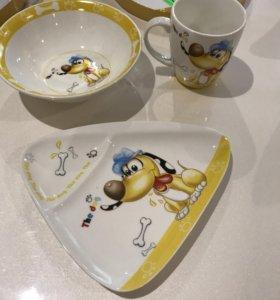 Набор детской посуды для мальчика