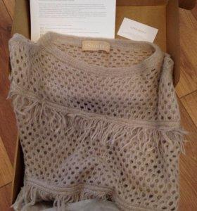 Дизайнерский свитер из натуральной шерсти ( кофта