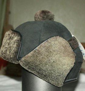 Новая шапка-ушанка из овчины, р.48-50
