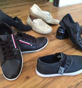 Продаются новые мальчиковые туфли,мокасины,слиперы
