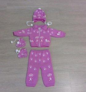 Вязанный костюм (комплект)
