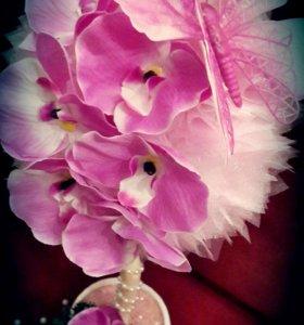 Топиарий из орхидей