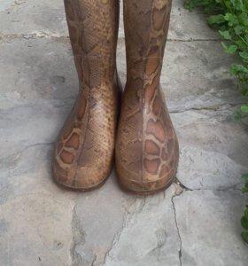 Резиновые сапожки с носочками, 37размер.