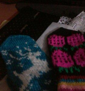 Носки рукавицы с орнаментом есть в наличии свяжу