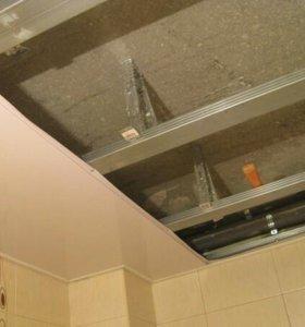 Облицовка стен и потолка ПВХ панелями