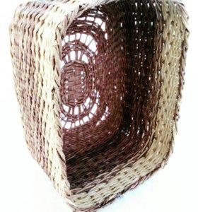 Плетёная корзина для хранения