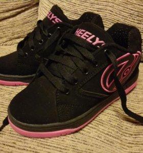 Кеды-ролики Heelys на девочку, размер 34
