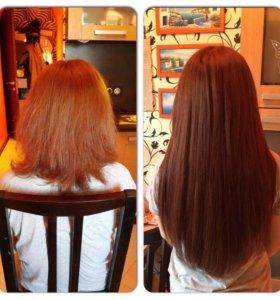 Наращивание волос качество гарантирую