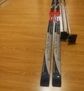 Комплект лыжи Fisher  Nordic cruising, палки, боти